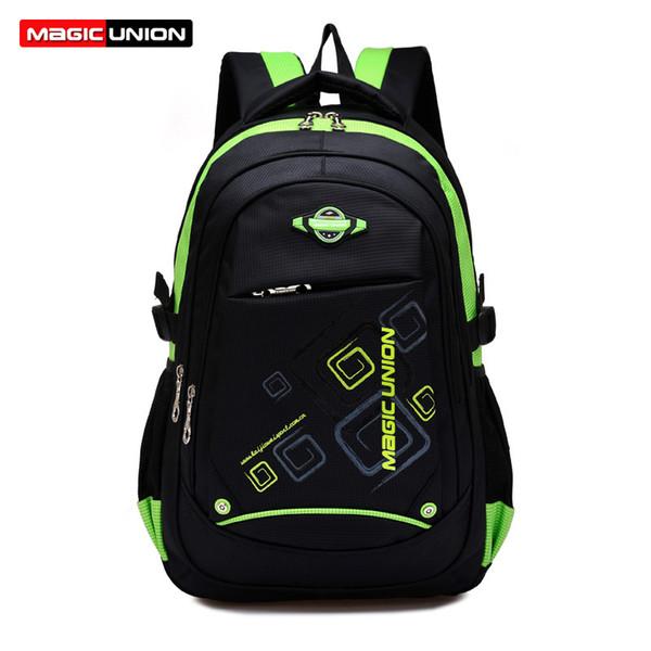MAGIC UNION Children School Bags High Quality Nylon Backpacks Lighten Burden On Shoulder For Kids Backpack Mochila Infantil Zip Y18100705