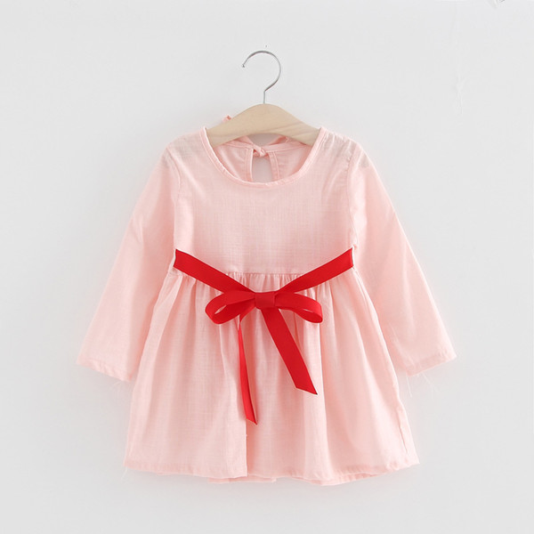 3 to 8 years baby Girls fall cotton dresses, autumn spring long sleeve clothes, kids boutique clothing for Retail, R1AZR810DS-15