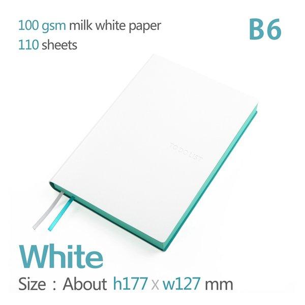 white B6 172x127mm