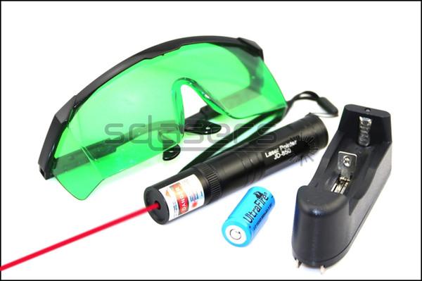 SDLasers RS1-0200 650nm Vermelho Laser Pointer Com 1 * 16340 Li Carregador de Bateria Goggles Engraçado pet vara Childrens Brinquedos Do Gato