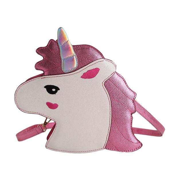 2 Colors Personality Laser Sequins Unicorn Shape Shoulder Bag Unicorn Handbag Ladies Purse Unicorn Crossbody Messenger Bag