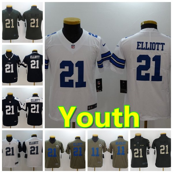low priced 7ec30 2662d 2019 Youth 21 Ezekiel Elliott Dallas Jersey Cowboys Football Jersey 100%  Stitched Embroidery Cole Beasley Kids Football Stitching Boys Jersey From  ...