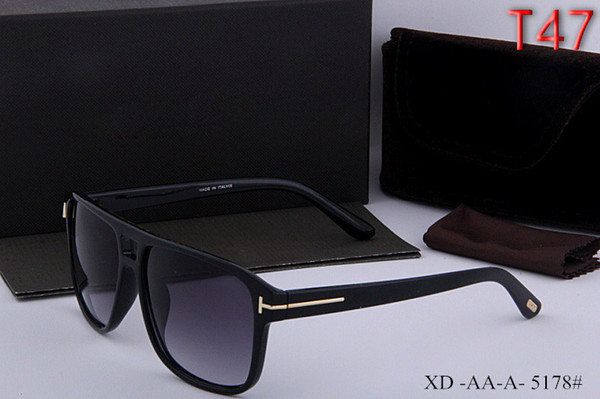 top popular New arrived New Fashion Tom lady Sunglasses For Man New Woman Eyewear ford Designer Brand Sun Glasses with original box + bag #0383 2019