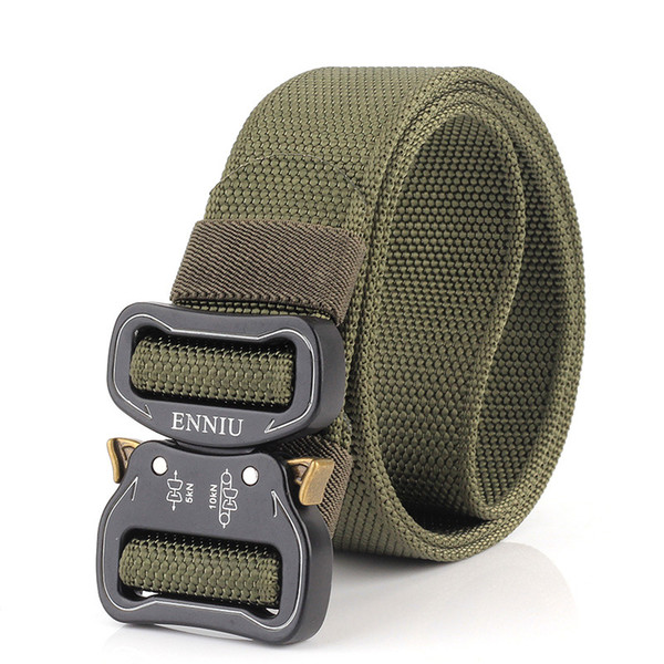 Factory Wholesale Army Tactical Outdoor Climbing Inner Belt Boutique Thickened Waist Nylon Duty Belt with Mamba Snake Style Buckle