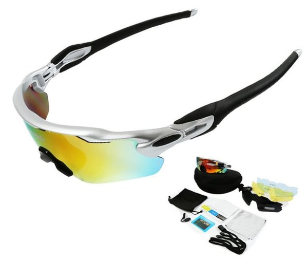 Radar Unisex Outdoor Sports Polarization Glasses with 5Pcs Lens Interchangeable Skiing Glasses Mountain Biking Glasses Sunglasses JP917