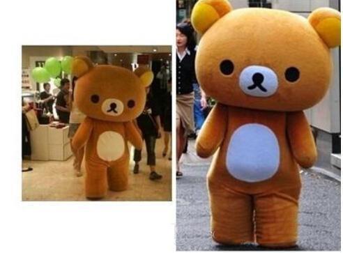 2018 de alta qualidade personalizado Rilakkuma urso traje da mascote roupas frete grátis