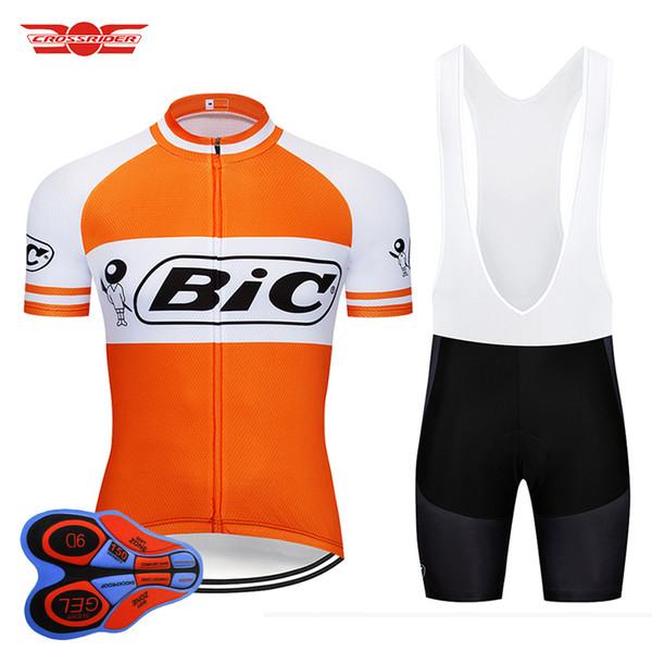 Crossrider 2018 Retro Bisiklet Forması Set MTB Üniforma BIC Bisiklet Giyim Bisiklet Giyim Ropa Ciclismo Erkek Kısa Maillot Culotte