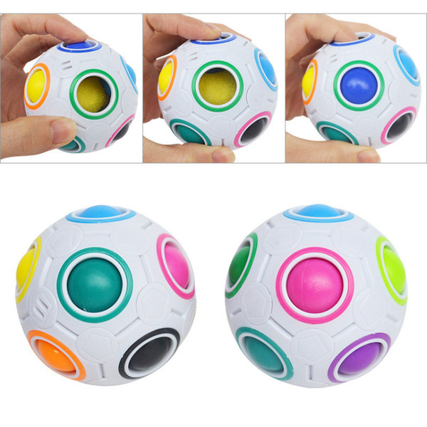 Rainbow Ball Magic Cube Speed Football Fun Creative Spherical Puzzles Kids Educational Learning Toy game for Children Adult Gifts free DHL
