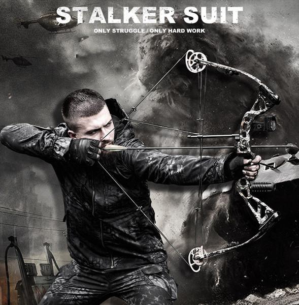 51783 camo shooter jacket and pants mens python grain hunting paintball camping paintball tactical sports set thumbnail