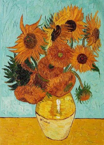 Sunflower by Van Gogh Handpainted & HD Print Abstract Still Life Art oil painting,Home Wall Decor High Quality Thick Canvas Multi Sizes l29
