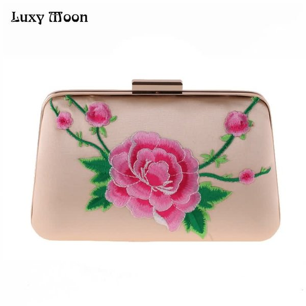 LUXY MOON Evening Bag Women's Wallet New Embroidery Flower Clutch Purse mini Small Hand Bags Portable wallet Shoulder Bags ZD807