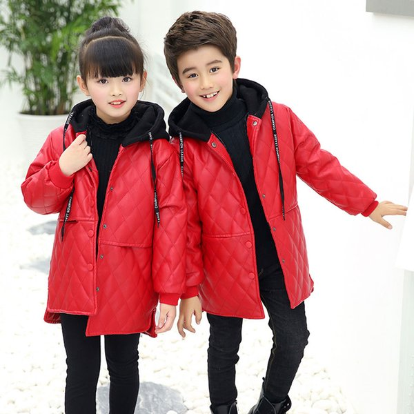 Baby Kids Little Girl Leather Jacket Spring Autumn Child Toddler Girl Leather Pu Jackets Coat Outwear Top Quality 4-12 Years