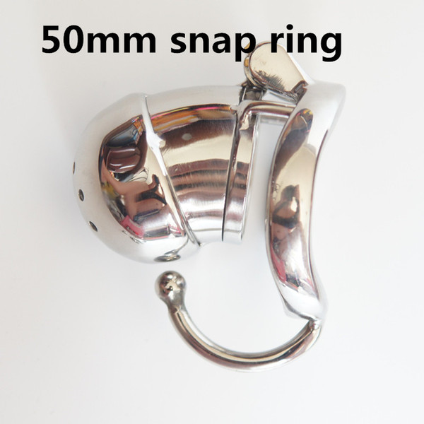 New Design Super Short Male Chastity Cock Cage Stainless Steel Penis Lock Restraints Anti-masturbation Device with ARC Snap Ring SMGC01