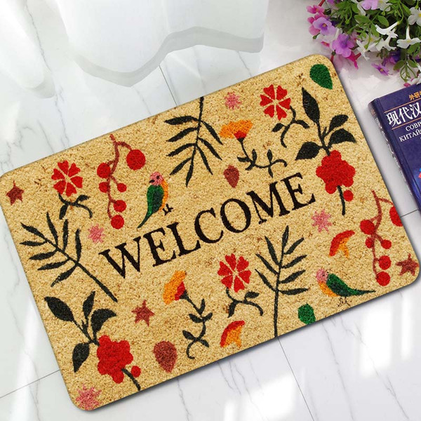 45x70cm Retro Colorful Mats Anti-slip Carpet Floor Mat Outdoor Rugs Rubber Welcome Front Door Home Entrance Door Mat Blanket