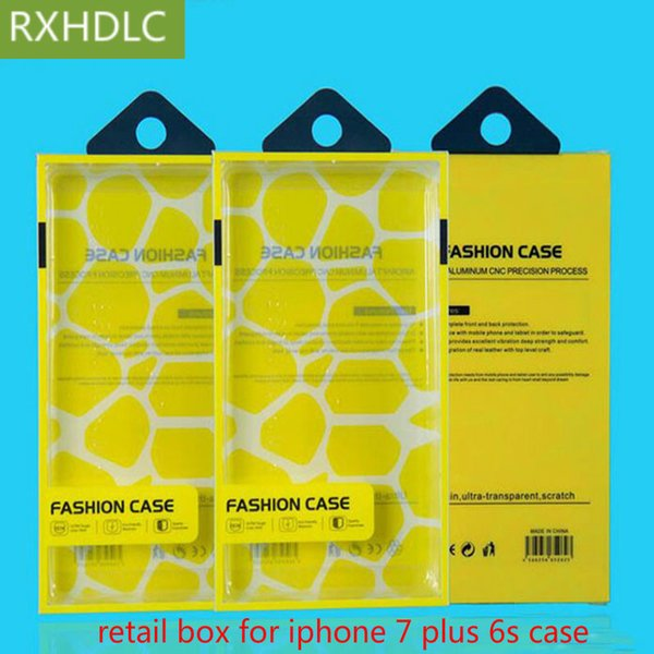 1000pcs!Universal Mobile phone Case Package PVC transparent plastic Retail Packaging Box for iphone 7 6 /Samsung s7 Cell phone