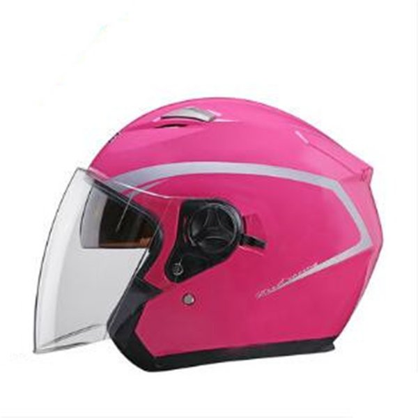 Double lens Motorcycle Helmet newest half Face Riding Helmet For Men And Women dark visor for free gift M L XL size