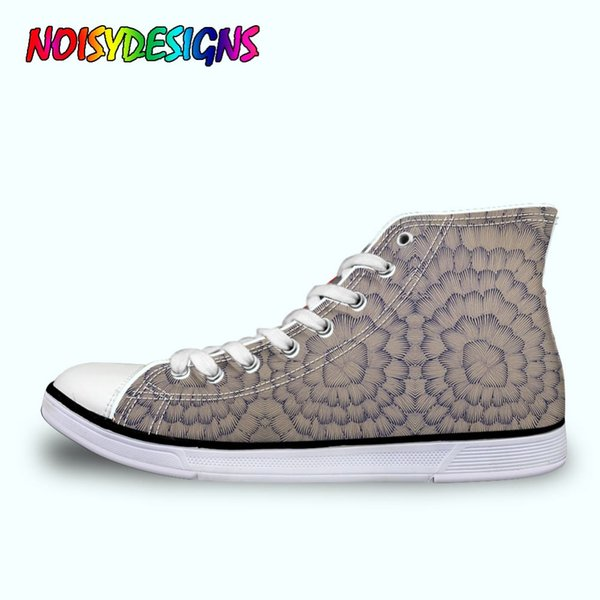 Classic Womens High Top Vulcanize Shoes Cool Heavy Metal Rock Casual Canvas Shoes Lace Up women High-top Sneakers
