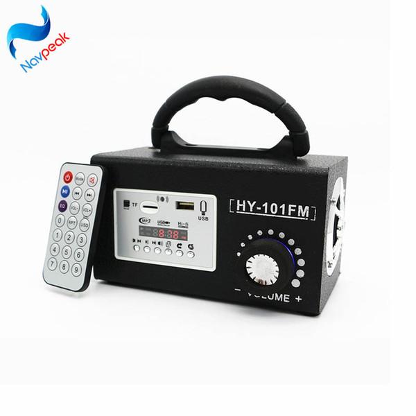 Mini Portable Wooden FM Radio Speaker MP3 Music Player USB TF Card Slot Remote For Dance Entertainment
