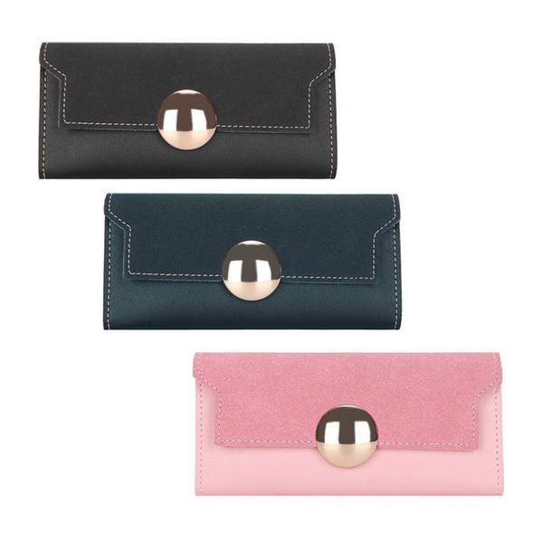 Einfaches Design Ultra Thin Frauen Pu-leder Handtasche Casual Lange Stil Dame Geld Halter Geldbörse