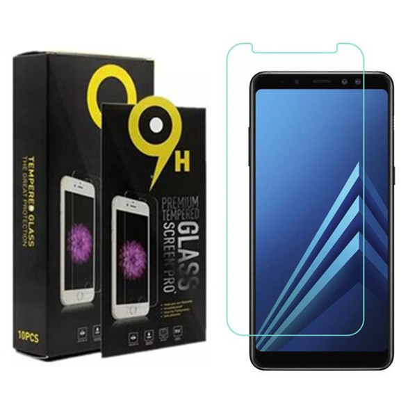 Screen Protectors Film Phone Tempered Glass For Samsung A3 A5 A7 J2 Pro 2018 A8 J8 J3 2018 J5 J7 with retail paper box