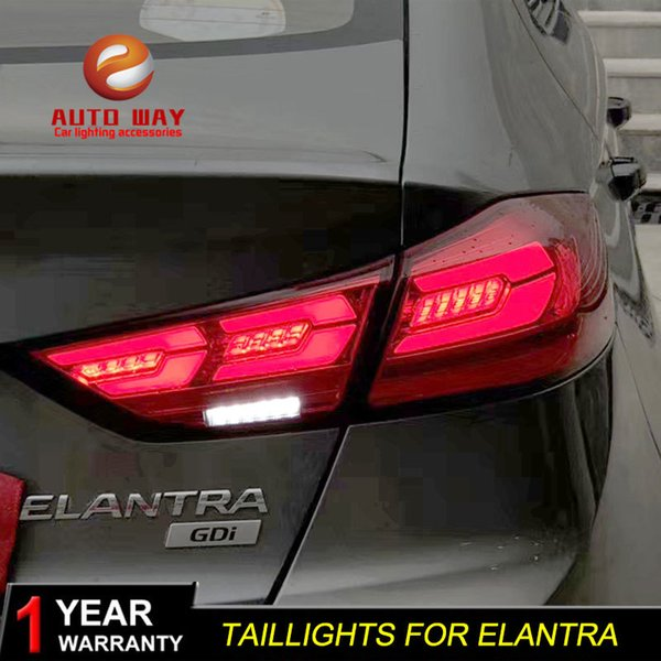 2019 Car Styling Tail Lamp Case For Hyundai Elantra 2017 2018 Tail Lights  LED Tail Light Rear Lamp LED Taillights Elantra Tailight From Ruxian1,