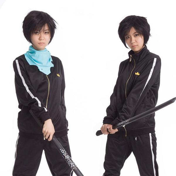 Anime Noragami Yato Traje Cosplay Jaqueta Esporte Terno Sportswear Conjunto Inteiro (Casaco + Calça + Lenço) unisex emboitement 172201 05 lbq