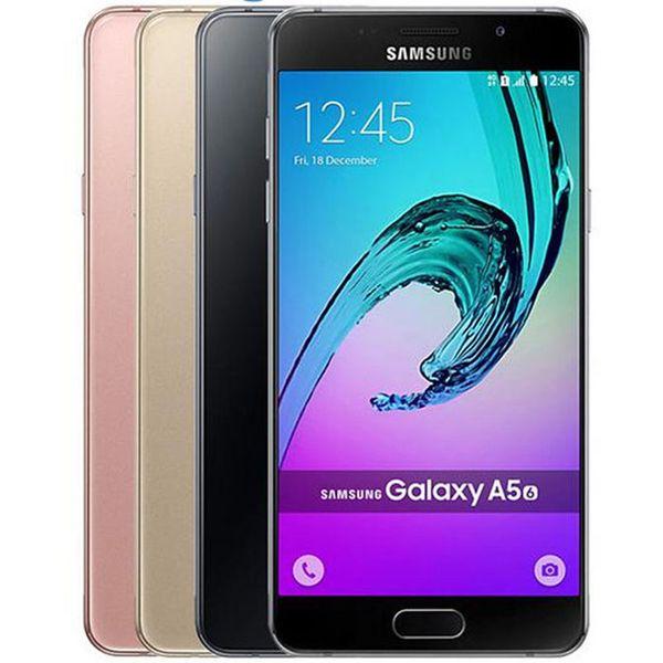 Refurbished Original Samsung Galaxy A5 2016 A5100 A510F 5.2 inch Octa Core 2GB RAM 16GB ROM 13MP 4G LTE Android Smart Phone Free DHL 1pcs