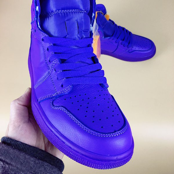 super popular dc586 16245 Basketball Shoes 2018 New 1 Gatorade Grape 1s Men Sports Shoes Athletic  Shoe Drop Shipping With Shoes Box Shoes Basketball Girls Basketball Shoes  From ...