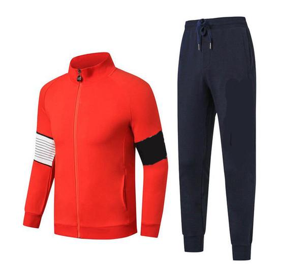 New Fashion Men Tracksuit Autumn Winter Active Suit Set Outwear Jacket And Long Pants Hot Sale