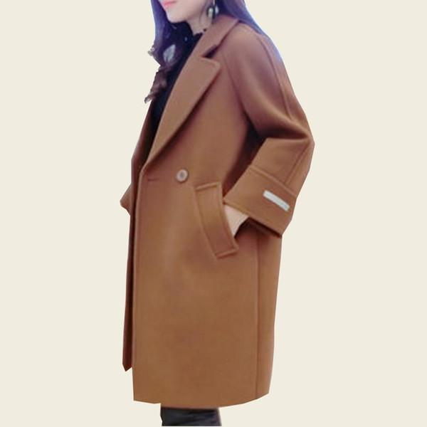Acheter 2018 Femmes Manteau Printemps Mélange Cachemire Alpaga Manteaux Femme Manteau Automne Laine Manteau Survêtement Casaco Dames D'hiver Vente