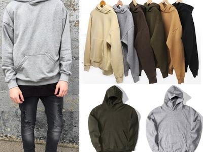Men's Hoodie Sweatshirt Women Men Hip Hop Streetwear Oversized Plain Pullover Hoodies Cool Winter Hooded Sweatshirt Jacket Coat