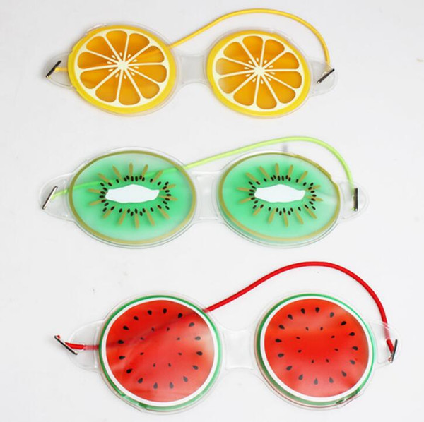 top popular Free Shipping Ice Gel Eye Mask Cold Compress Cute Fruit Gel Eye Fatigue Relief Cooling Eye Care Relaxation 2019