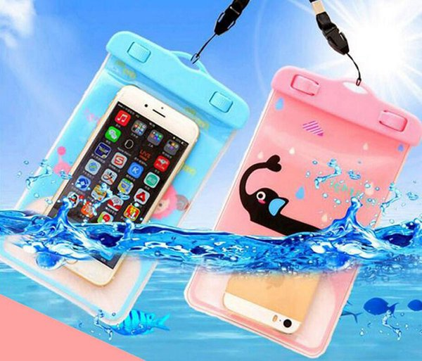 Swimming Floating Mobile Phone Waterproof Bag Button PVC Camera Waterproof Case Creative Mobile Phone Bag