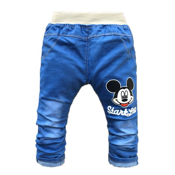 Baby Pants Summer Baby Boy Clothes Cartoon Kids Clothing Infant Girls Trousers Fashion Spring Jeans for 2-4 Years Old