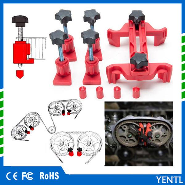Free shipping 1 Set Car Camshaft Engine Timing Sprocket Gear Locking Dual Cam Clamp Tool Kit Engine Timing Locking Tool Sprocket Gear Kit