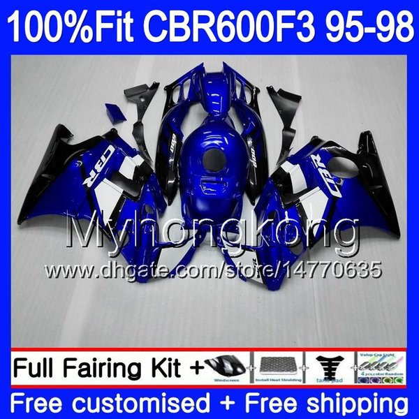 Injection For HONDA CBR 600F3 CBR600RR CBR600F3 1995 1996 1997 1998 2MY65 CBR600 F3 FS CBR600FS CBR 600 F3 95 96 97 98 Fairing hot sale blue