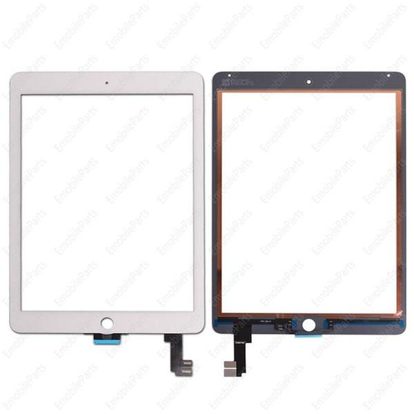 ucuz 20 adet ipad air 2 balck ve beyaz ücretsiz nakliye için oem dokunmatik ekran cam panel sayısallaştırıcı