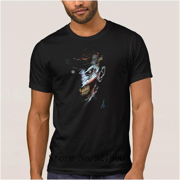 Faire Imprimé Cool Meilleur T-shirt Hommes Joker Fantôme Visage Grand T-Shirt Pour Hommes Lumière du soleil Grandes tailles Gents Tee Shirts Top Qualité
