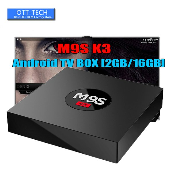 Más barato Quad Core M9S K3 S8 PRO Android TV BOX 2GB 16GB Bluetooth Android 6.0 Reproductor multimedia Mejor TX3 X96 MXQ PRO 4K RK3229