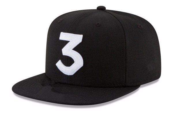 2017 Popular chance the rapper 3 Hat Cap Black Letter Embroidery Baseball Cap Hip Hop Streetwear Strapback Snapback Sun Hat Bone