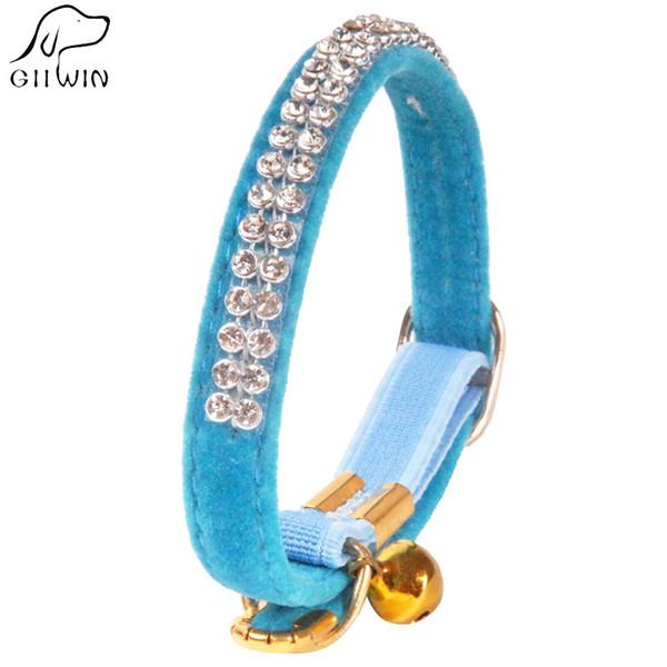 [GIIWIN] Kristall Hundehalsband Leine für Welpen Katze Haustier Zubehör Produkt mit Bling Strass Halskette für Walking Hunde Katze YS0035