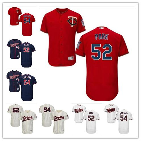 low priced 967c9 72957 2019 Custom Men Women Youth Twins Jersey #52 Byung Ho Park 54 Ervin Santana  Home Red Blue White Baseball Jerseys From Lauer, $22.69 | DHgate.Com