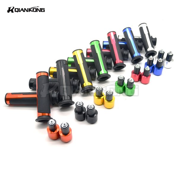 NEW 2018 7/8 22mm Handlebar Sport Bike Motorcycle Rubber Gel Hand Grips For GSX750 GSX1000 GSX1250 GSX1400 GSX650F GSXR