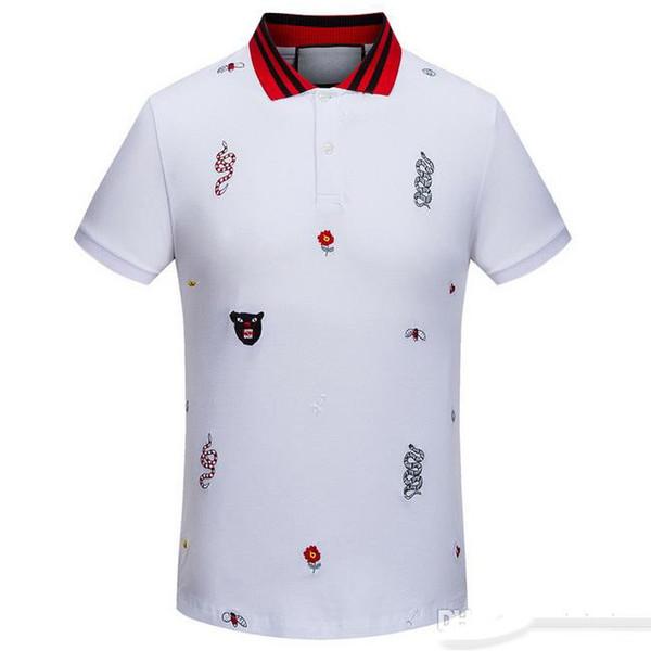 Italienische Designer Polo Shirt Marke T-Shirt Männer Casual Polo Shirt Stickerei Buchstabe G Mode gestreift gedruckt Baumwolle Polo-Shirt M-3XL