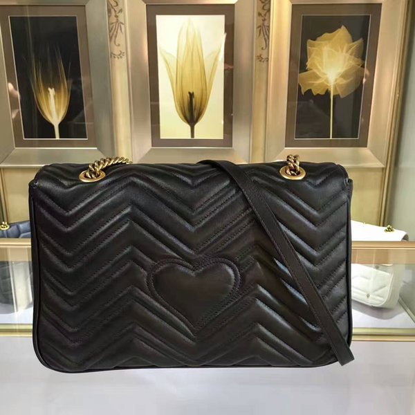 2018 new Luxury Ladies Handbags hearts pattern Top Quality Genuine leather Fashion Shoulder Bags for Women Cross body and Shoulder Bags