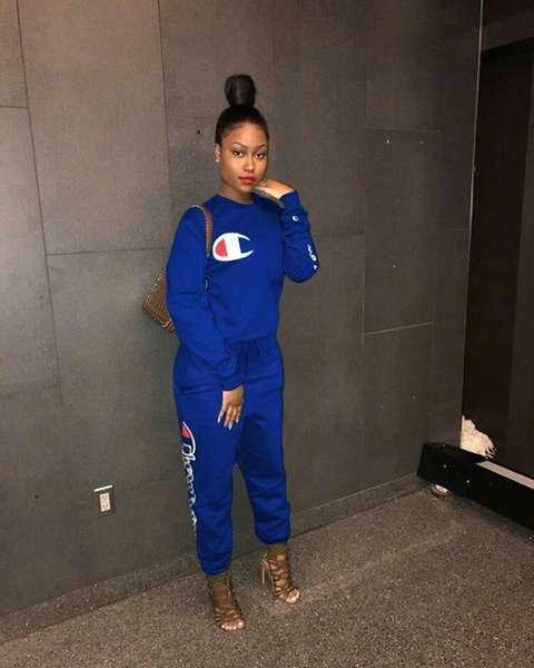 Letter Printed 2018 Summer Two Piece Set Women Tracksuits Sexy Casual Suit Outfits Ladies Hoodies + Hot Long Pants