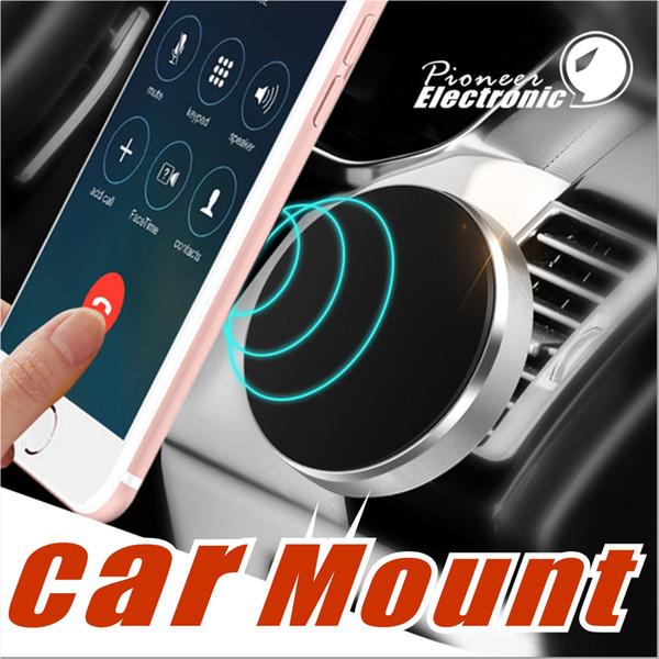 Universal In Car Stick Tablero magnético Soporte para teléfono celular Soporte para iPhone 8 X Samsung Galaxy s8 s7edge Dispositivos GPS con paquete