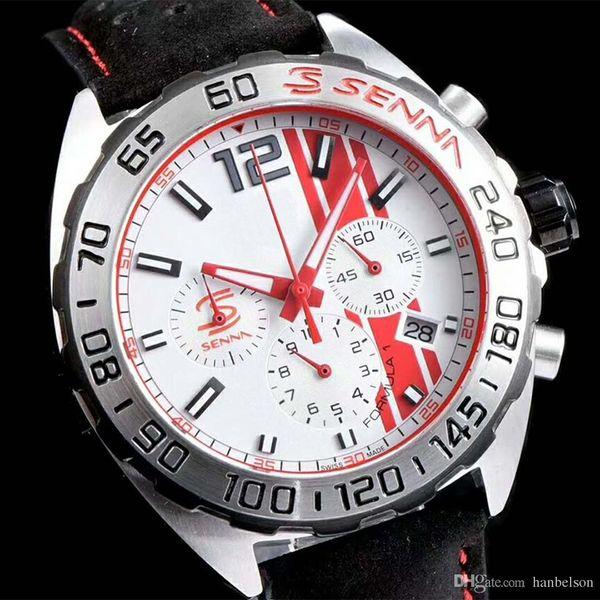29e6a07ebe5 Luxuy AAA Senna homens relógios tag F1 VK Quartz movimento cronógrafo  esporte relógio de pulso em