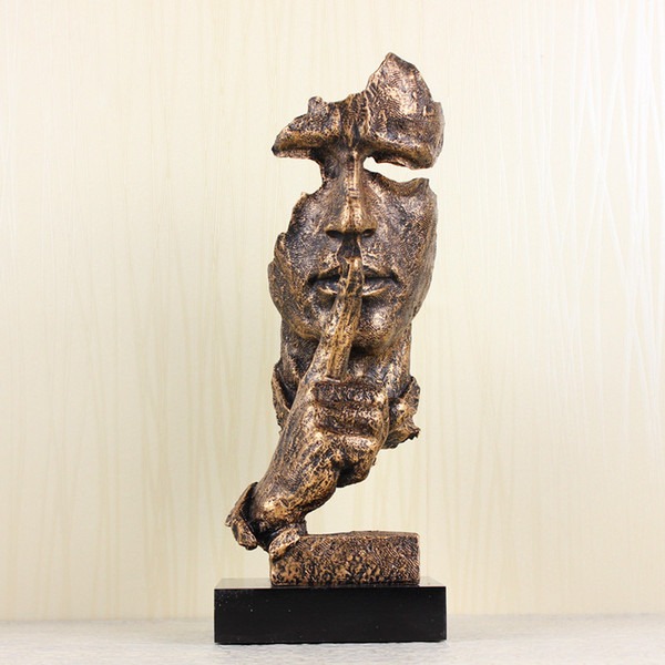 Creative Decorations Hand Faces Statues And Sculptures For Home Decor The Thinker Statue Silence Is Gold Finger Signs Australia 2020 From Chinateaculture Au Au 59 53 Dhgate Australia