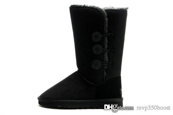 2018 venta caliente de las mujeres australianas botas de nieve de las mujeres botas de nieve 100% genuino botines de cuero de piel de vaca cálidos zapatos de mujer de invierno